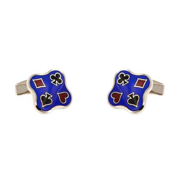 gemelos pocker esmalte azul joyas novio tarin joyeros online