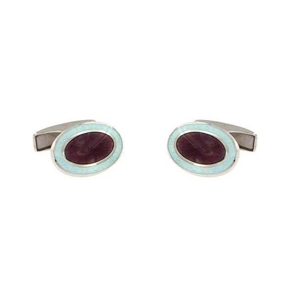 gemelos esmalte ovalados interior lila joyas novio tarin joyeros online