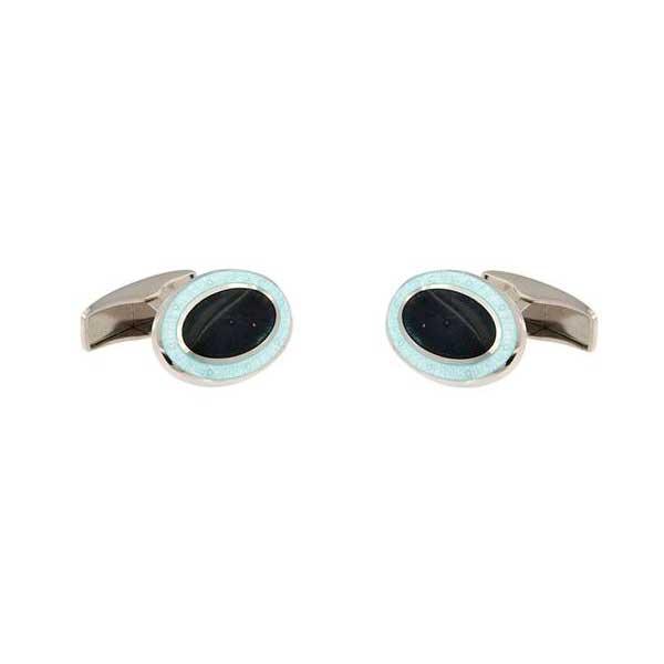 gemelos esmalte ovalados interior negro joyas novio tarin joyeros online