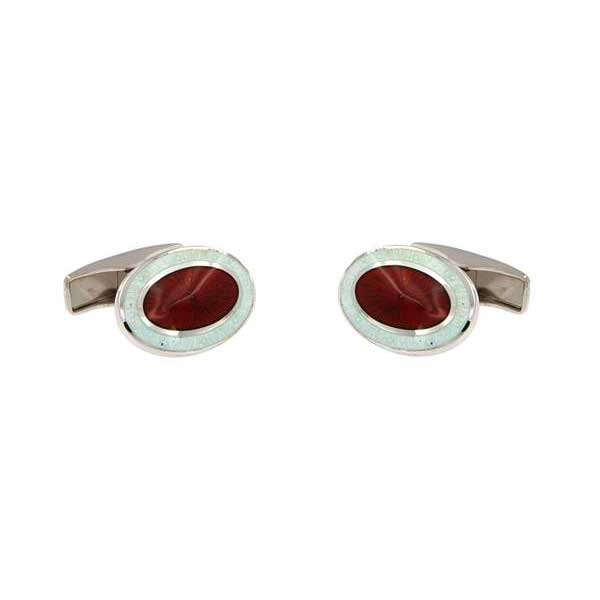 gemelos esmalte ovalados interior granate joyas novio tarin joyeros online