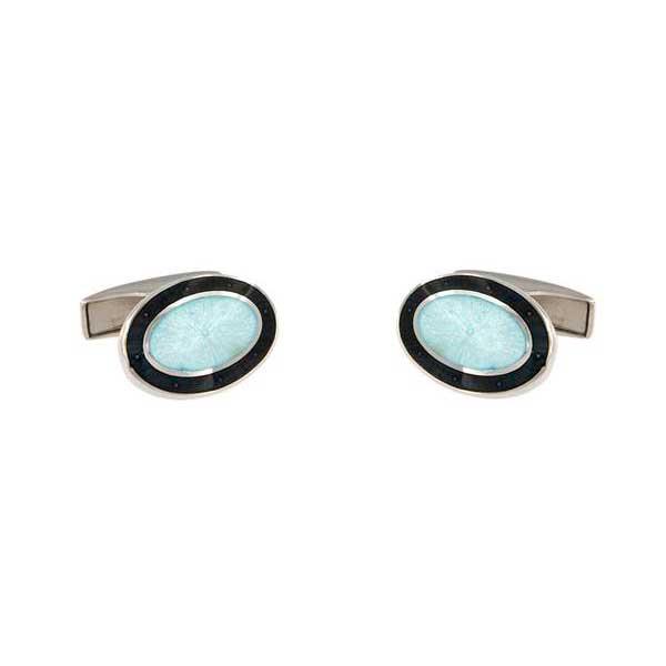 gemelos esmalte negro interior blanco joyas novio tarin joyeros online