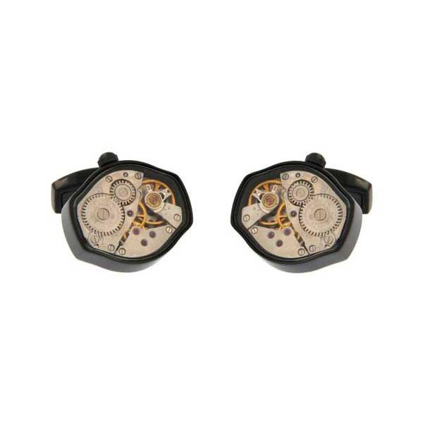gemelos maquinaria hexagonales rutenio negro joyas novio tarin joyeros online