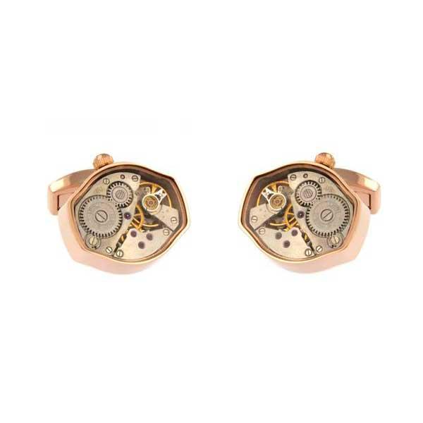 gemelos maquinaria hexagonales rosa joyas novio tarin joyeros online