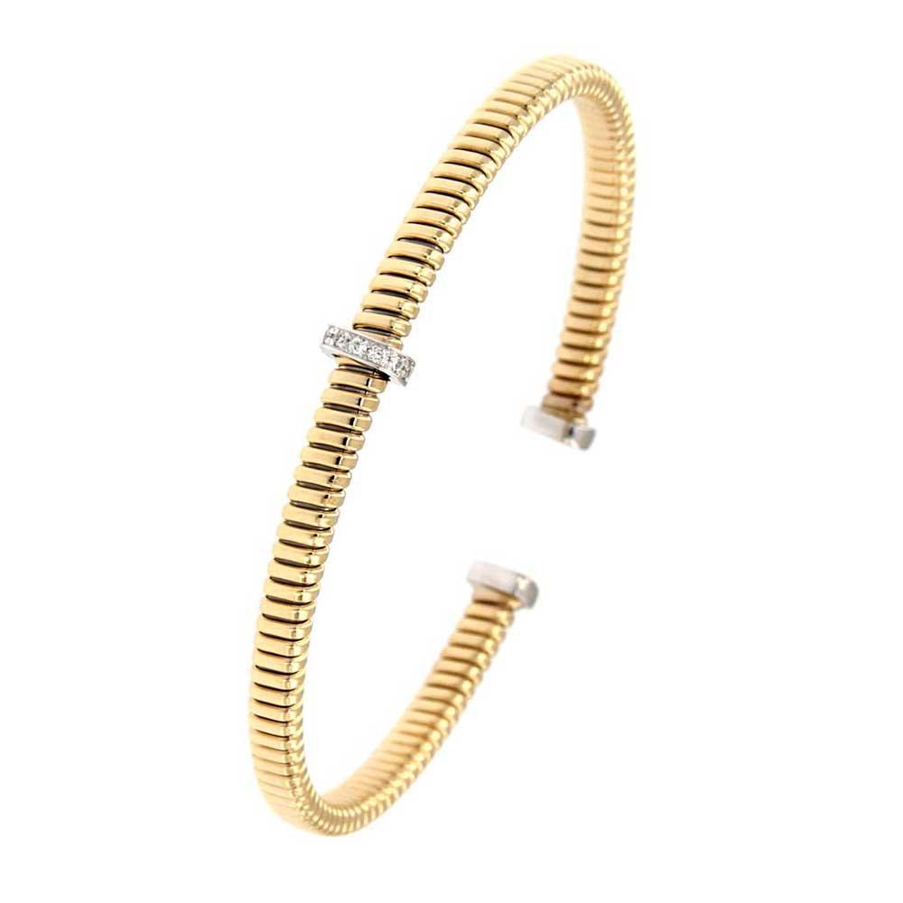 pulsera entorchada abierta oro amarillo tarin joyeros online