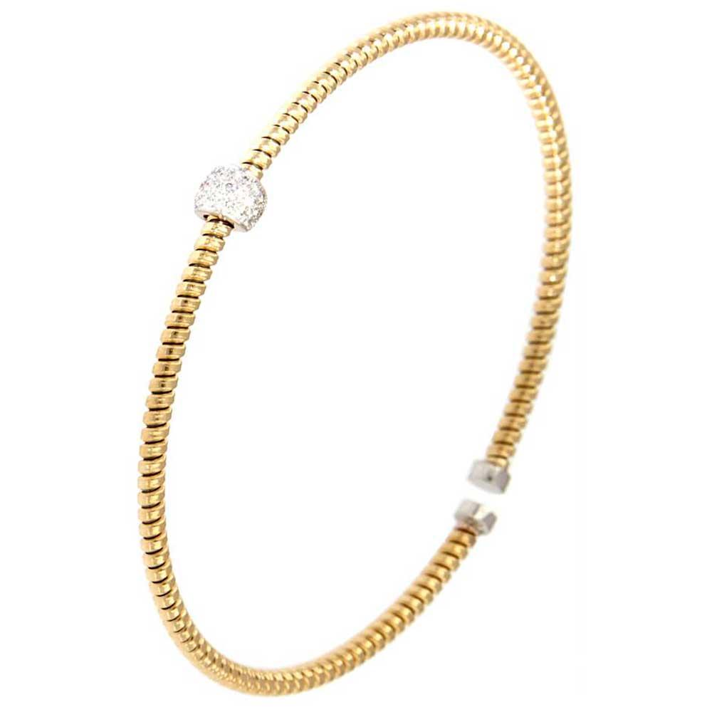 pulsera hilo entorchado oro amarillo esfera oro blanco tarin joyeros online