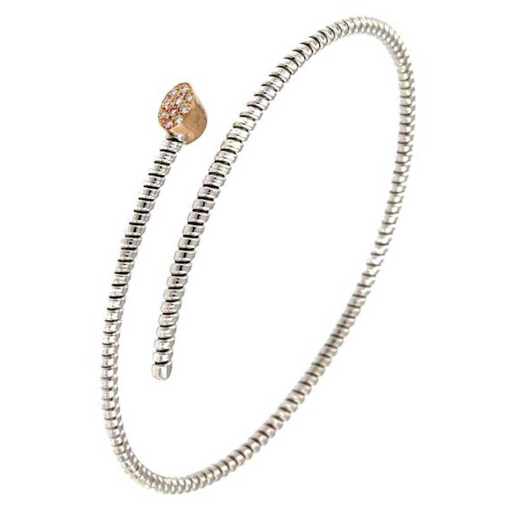 pulsera hilo entorchado espiral oro blanco tarin joyeros online