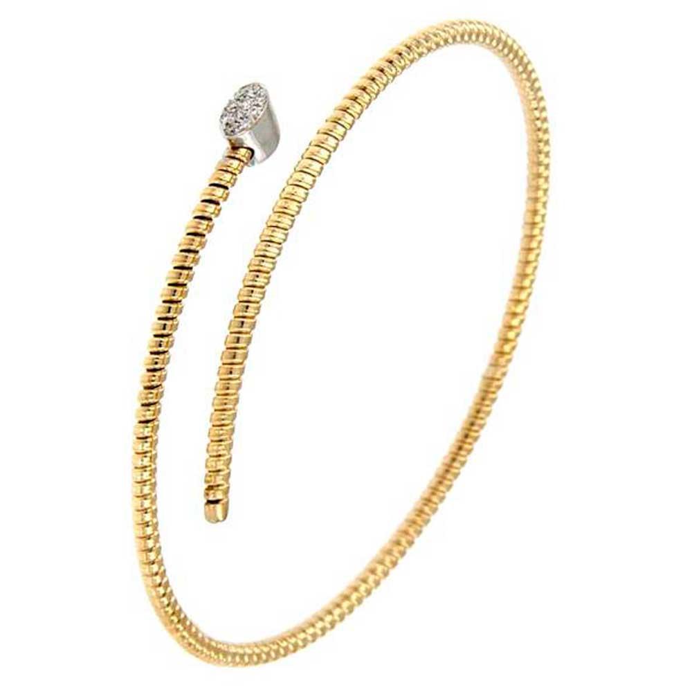 pulsera hilo entorchado espiral oro amarillo tarin joyeros online