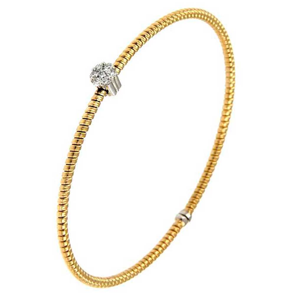 pulsera hilo entorchado oro amarillo roseta oro blanco tarin joyeros online