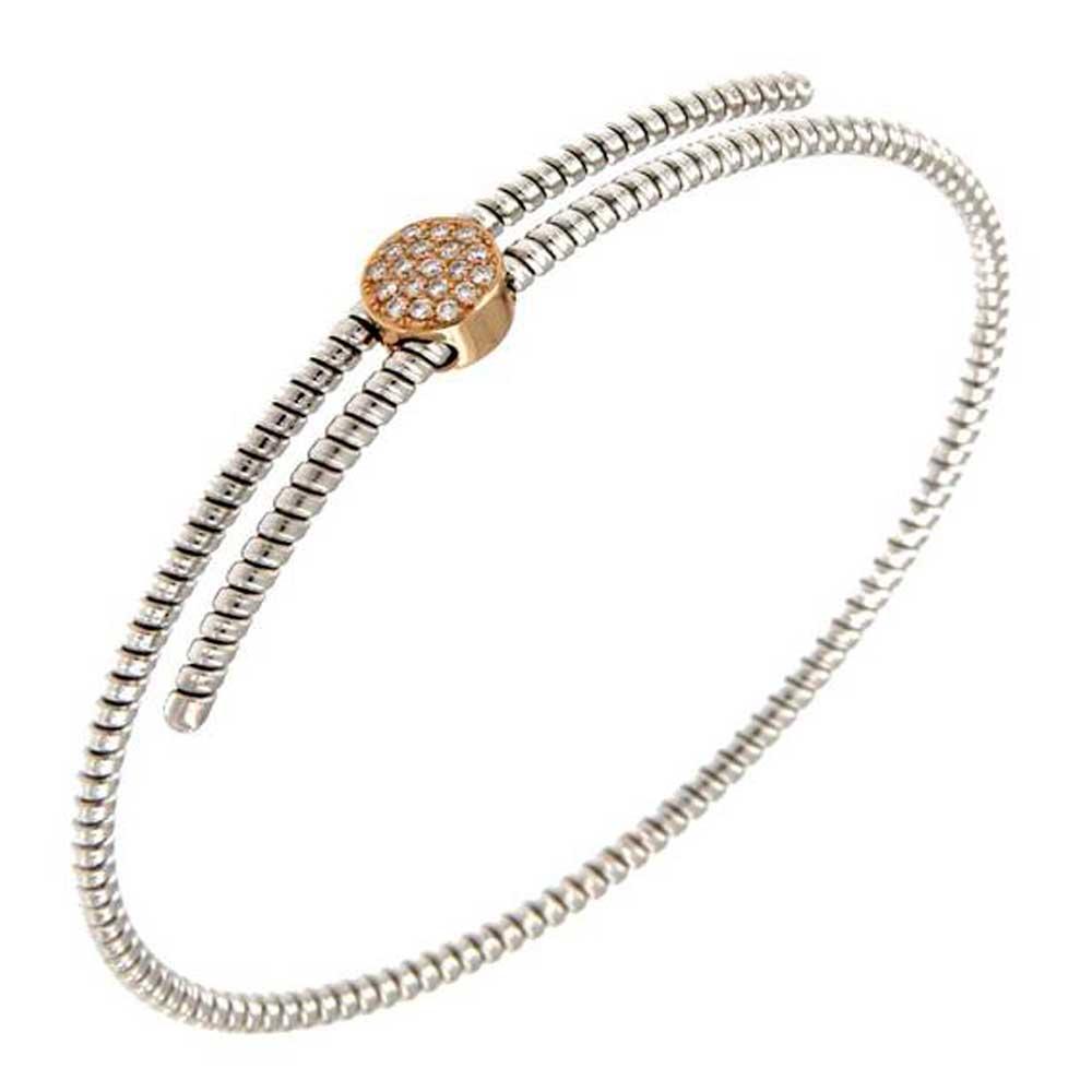 pulsera hilo entorchado oro blanco cruzada círculo oro rosa tarin joyeros online