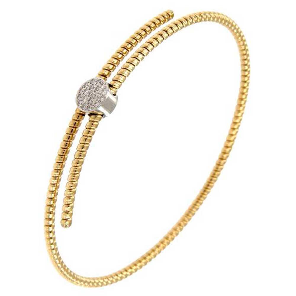 pulsera hilo entorchado oro amarillo cruzada círculo oro blanco tarin joyeros online